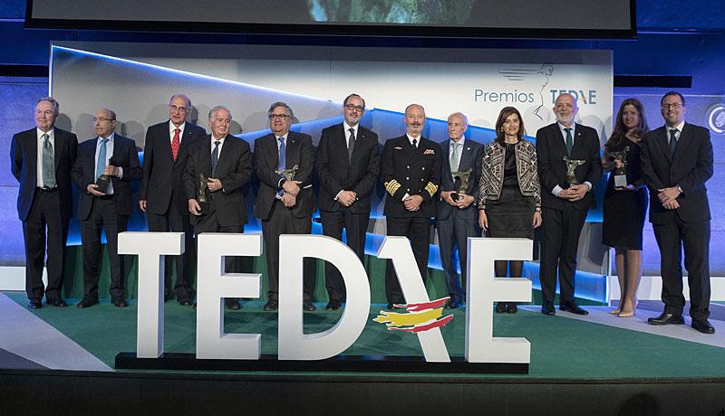Los Premios TEDAE 2019 reunieron a más de 250 representantes de la industria, la Administración y las instituciones
