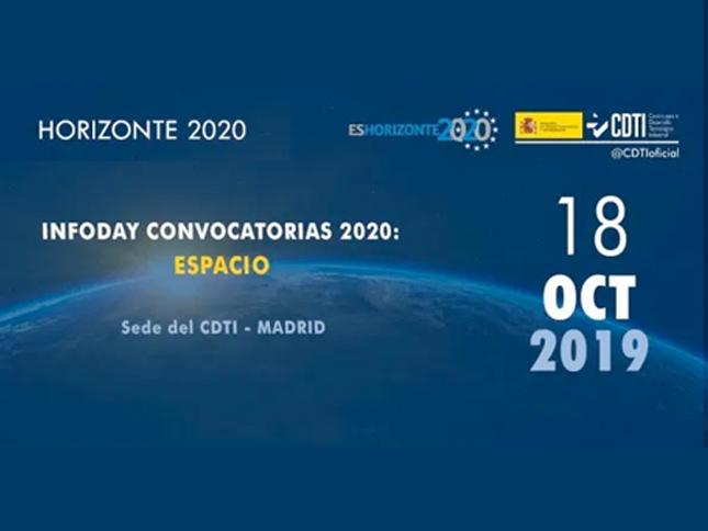 Infoday Convocatorias 2020: Espacio